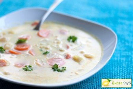 сырный суп с курицей, сырный суп с шампиньонами