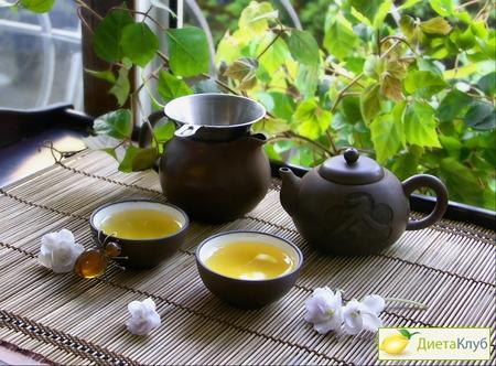 чай зеленый с молоком для похудения